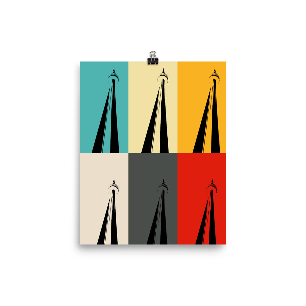 TORONTO CN TOWER Pop Art Poster