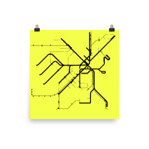 BOSTON Metro Map Poster