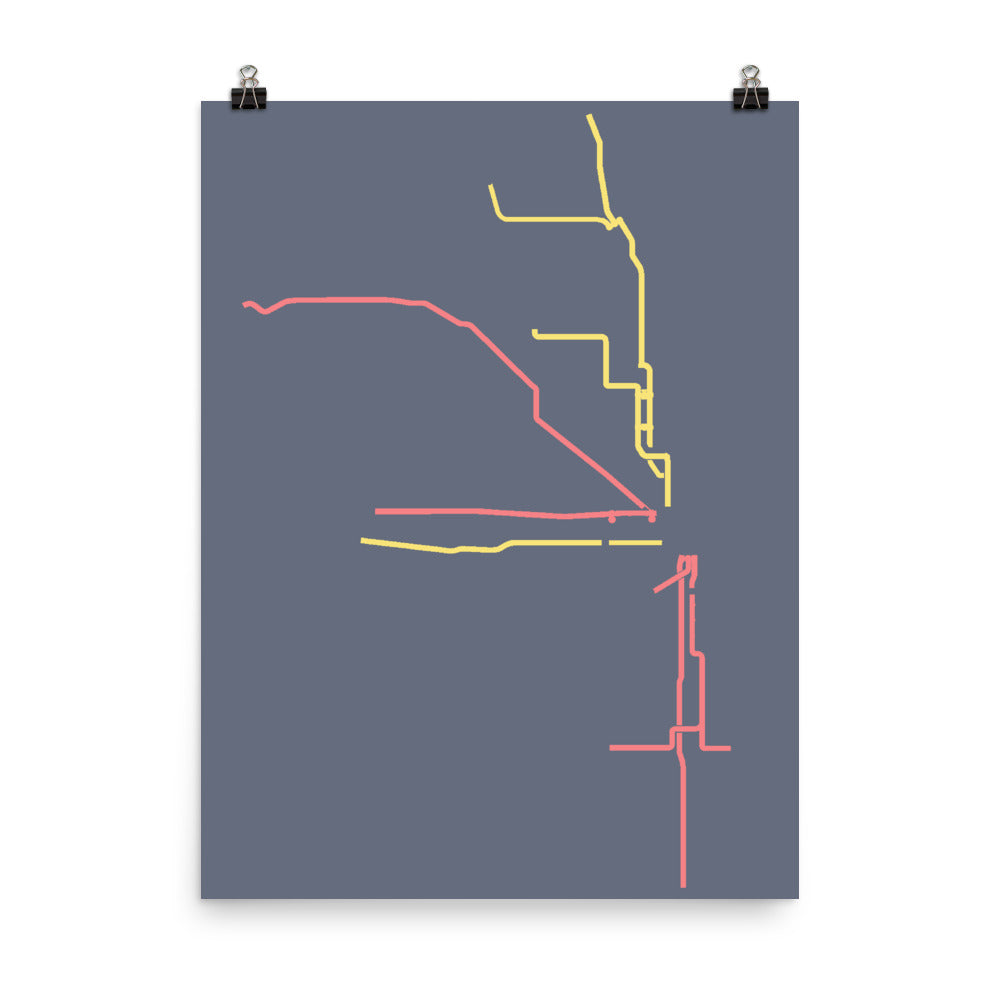 CHICAGO SUBWAY MAP III Poster