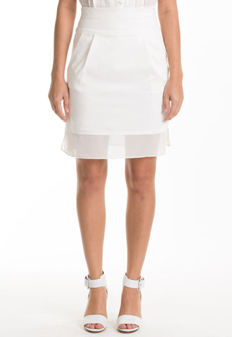 Alexis Pencil Skirt (Ivory)