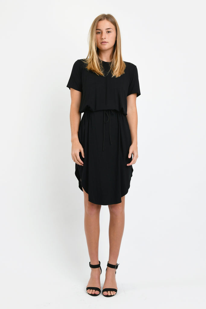 Mark Tie Waist Dress (Black)