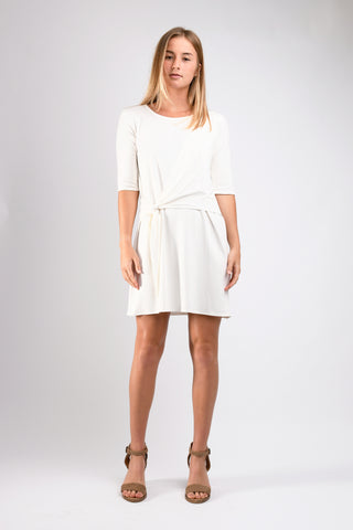 Kacie Wrap Dress (Ivory)