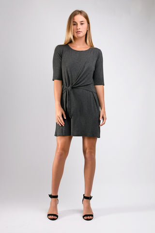 Kacie Wrap Dress (Charcoal)