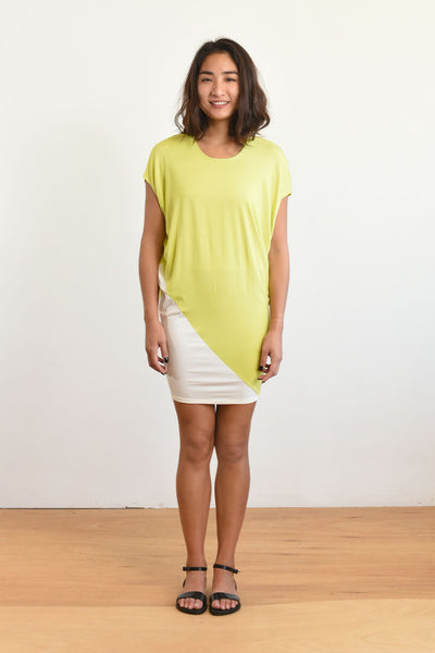 Kit Dress (Lime/Ivory)