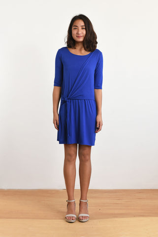 Kacie Wrap Dress (Blue Violet)