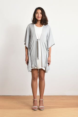 Michelle Cover Up Cardigan (Thin Stripe)