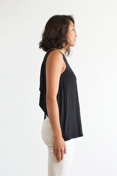 Haylee Tank with Bandeau (Black)