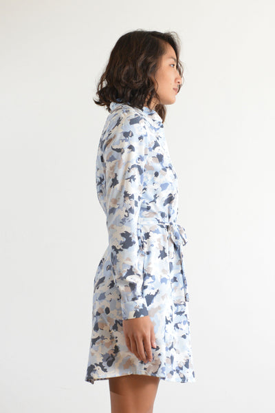 Joey Shirt Dress (Winter Camo)