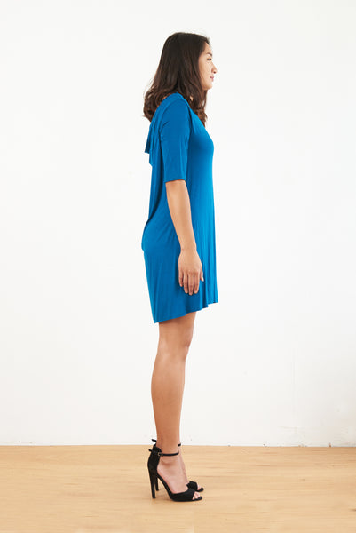 Amelia Cowl Back Dress (Dk Teal)