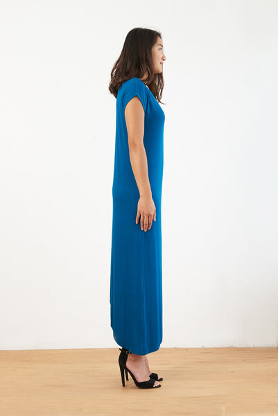 Lola Asymmetric Maxi (Dark Teal)