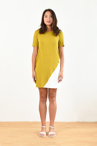 Tommy T-Shirt Dress (Mustard)