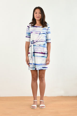 Kacie Wrap Dress (Watercolor)