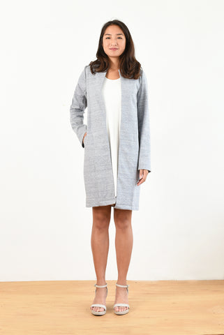 Olivia Lightweight Coat (Blue Ponte)