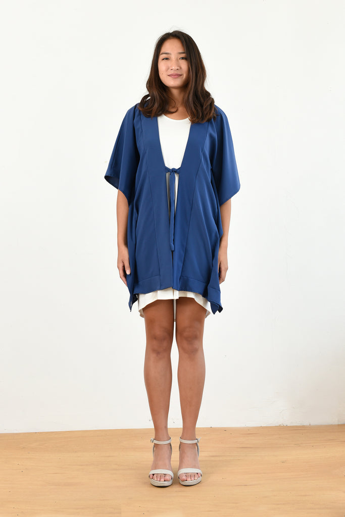 Michelle Cover Up Cardigan (Blue)