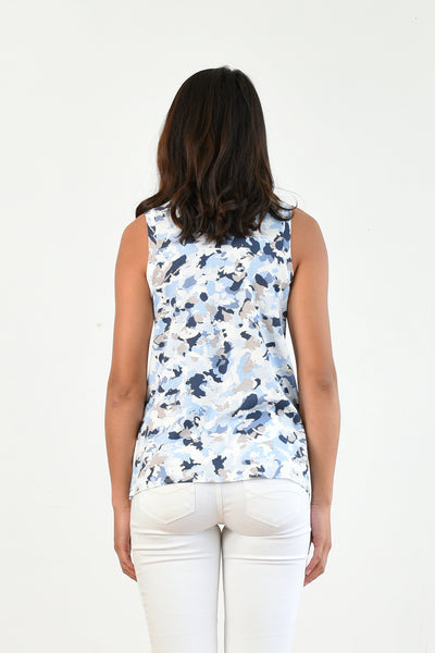 Chris Tank Top (Navy Camo)