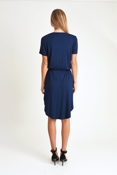 Mark Tie Waist Dress (Navy)
