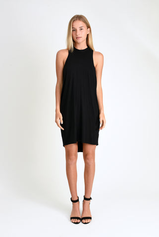 Chad Layered Tank Dress (Black)