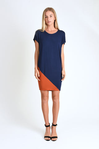 Kit Dress (Navy/Rust)