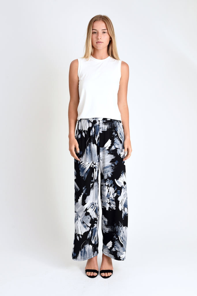 Parker High-Waist Pant (Abstract Floral)