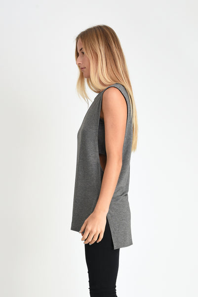 Courtney Layered Tank (Charcoal)