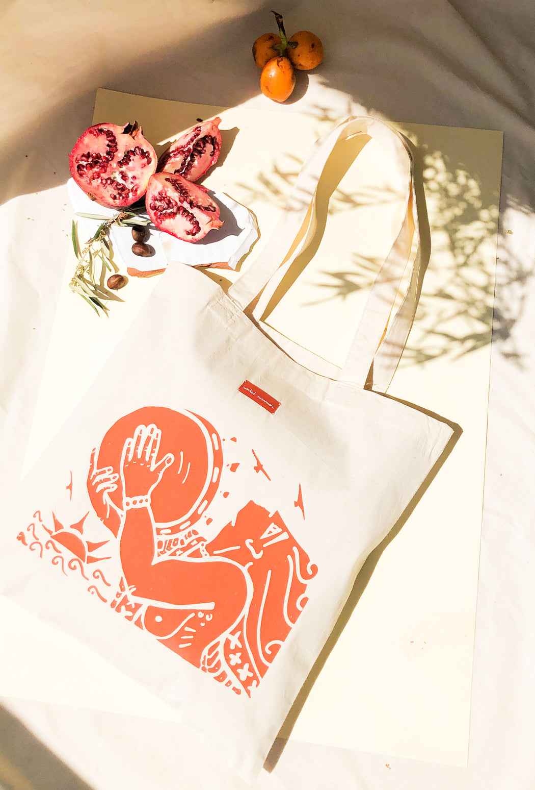 sun priestess / tote bag-orange