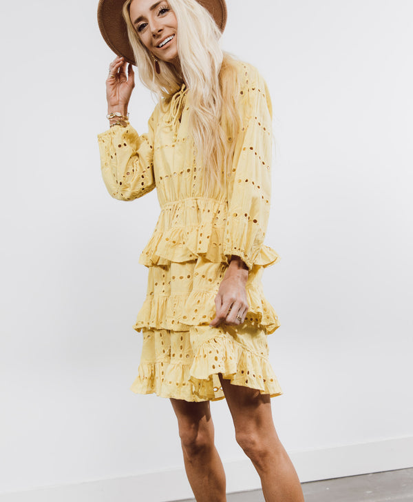 Alisa Ruffle Dress
