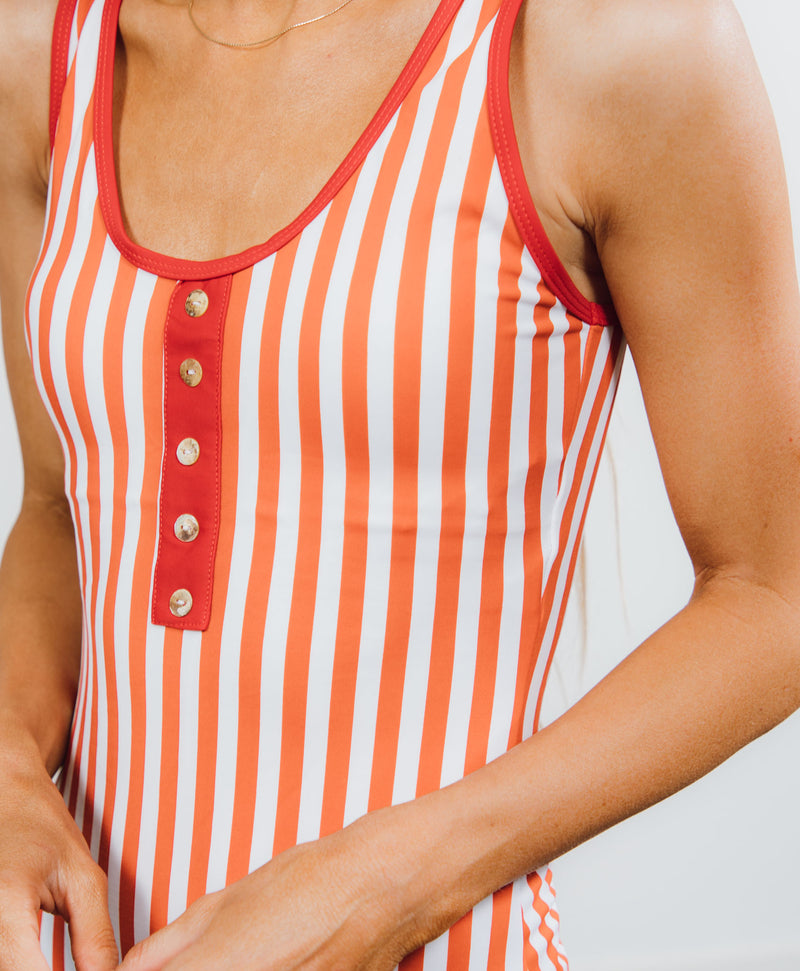 Lagoon Stripe One Piece
