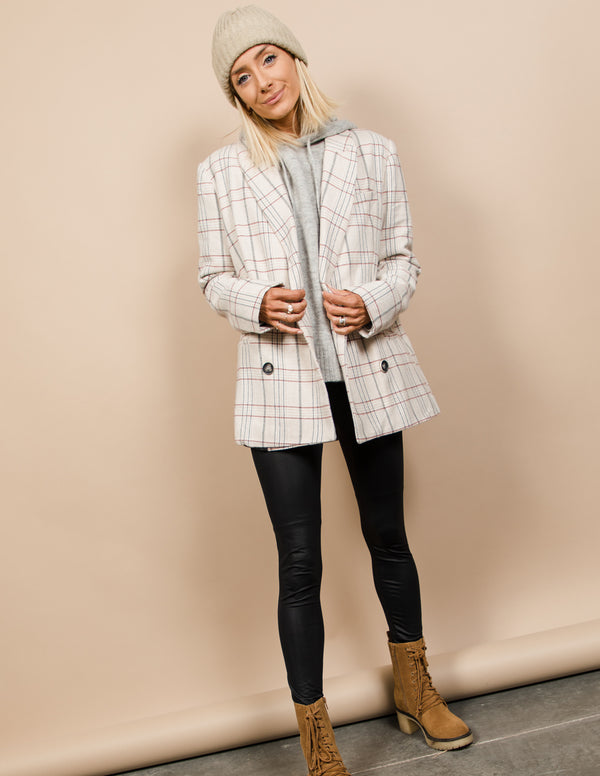 Kylie Plaid Blazer