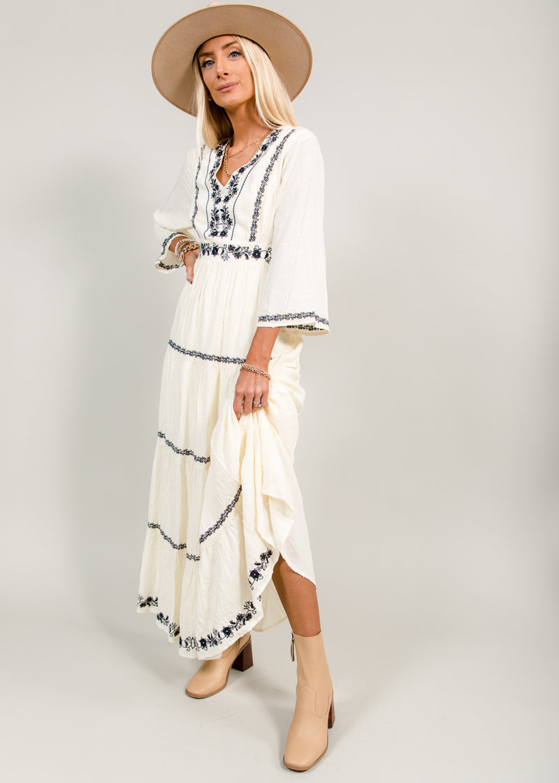 Kassandra Embroidered Maxi Dress