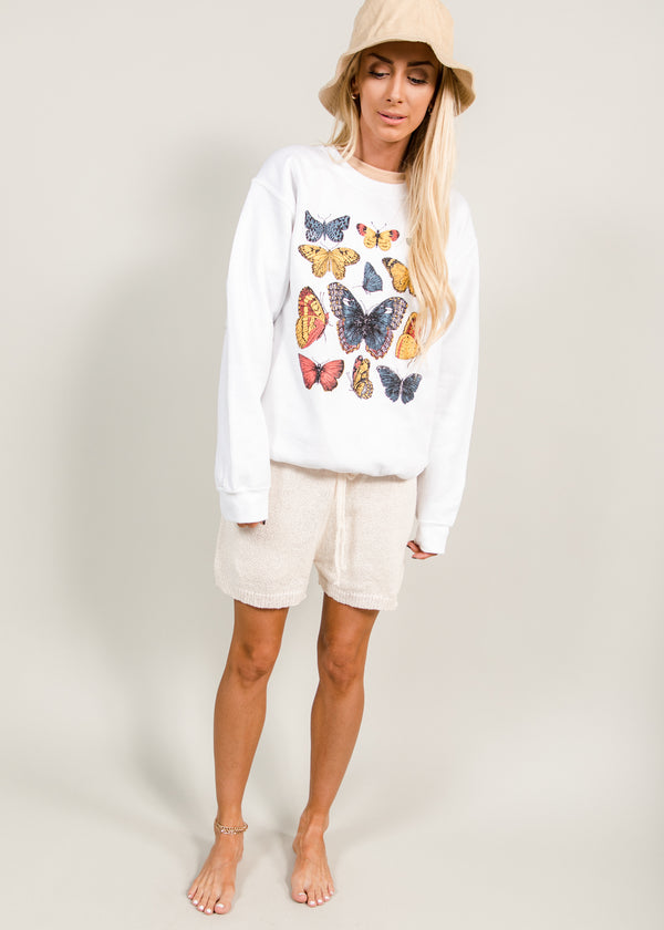 Fly Away Butterfly Pullover