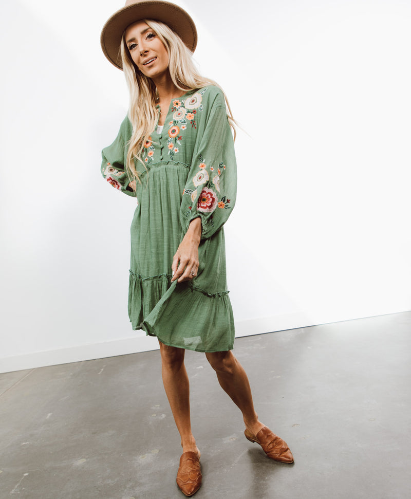 Kristie Embroidered Dress