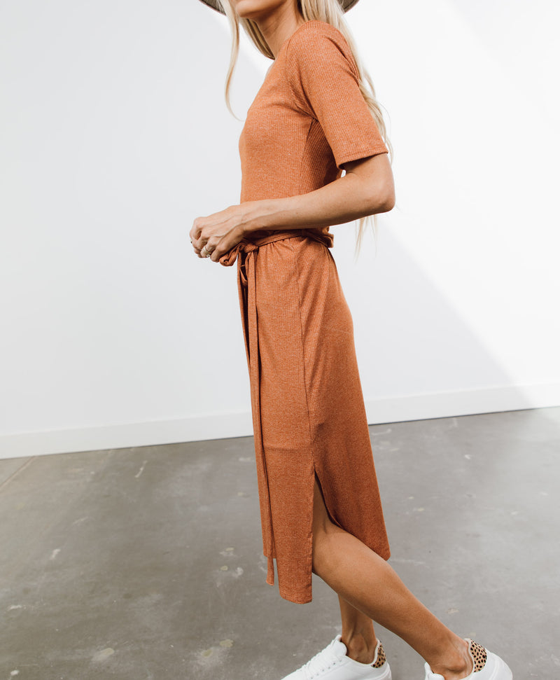 Brea Ribbed Midi Dress