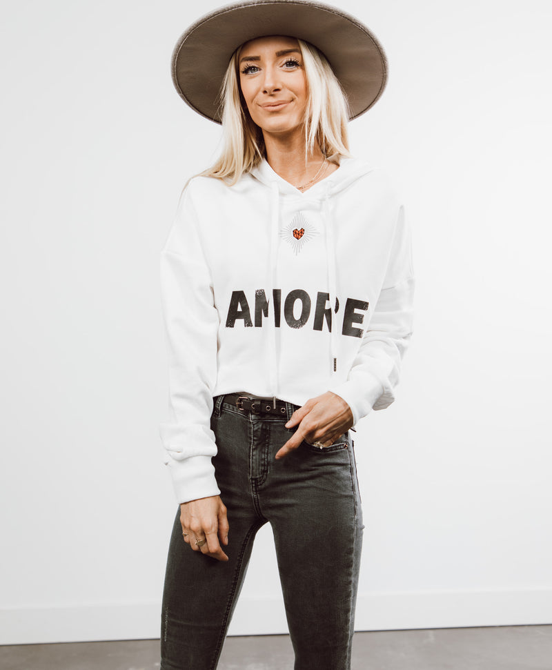 Amore Cropped Hoodie