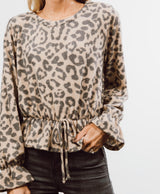 Cheetah Printed Long Sleeve Top