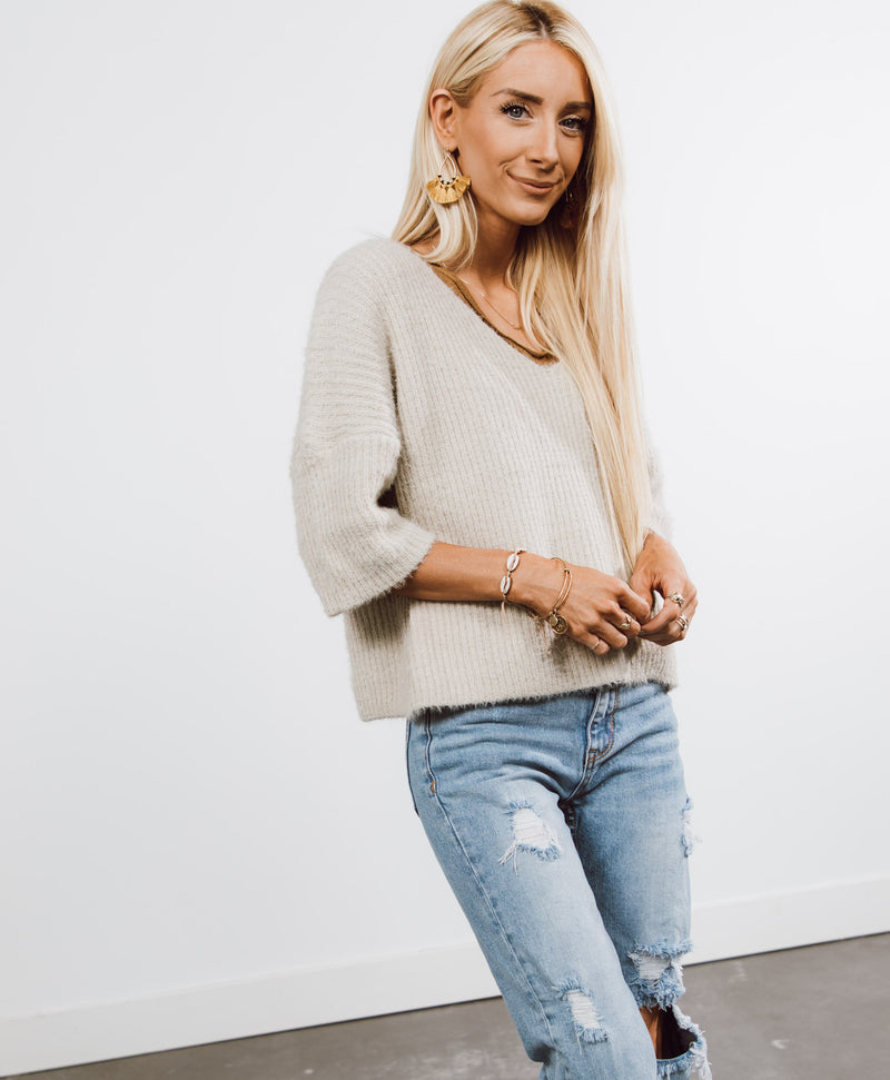 Marietta V-Neck Sweater Top