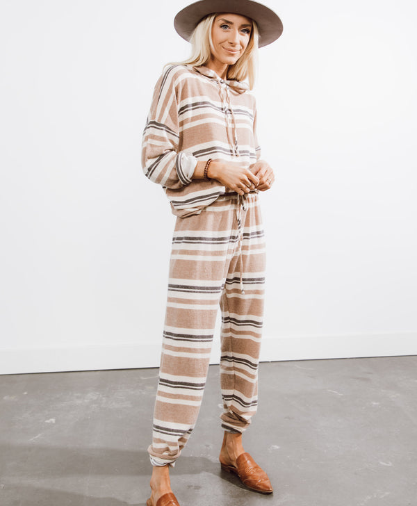 Sandra Stripe Hoodie and Sweatpants