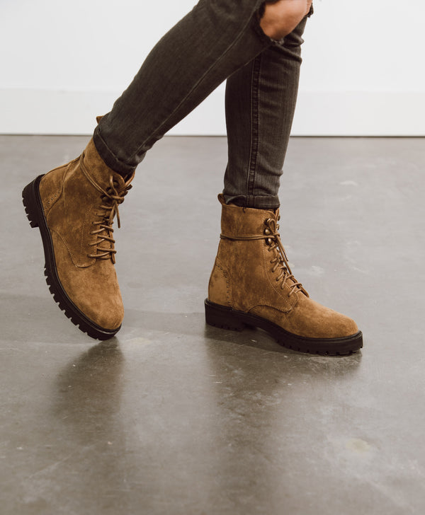 Jules Suede Combat Boots
