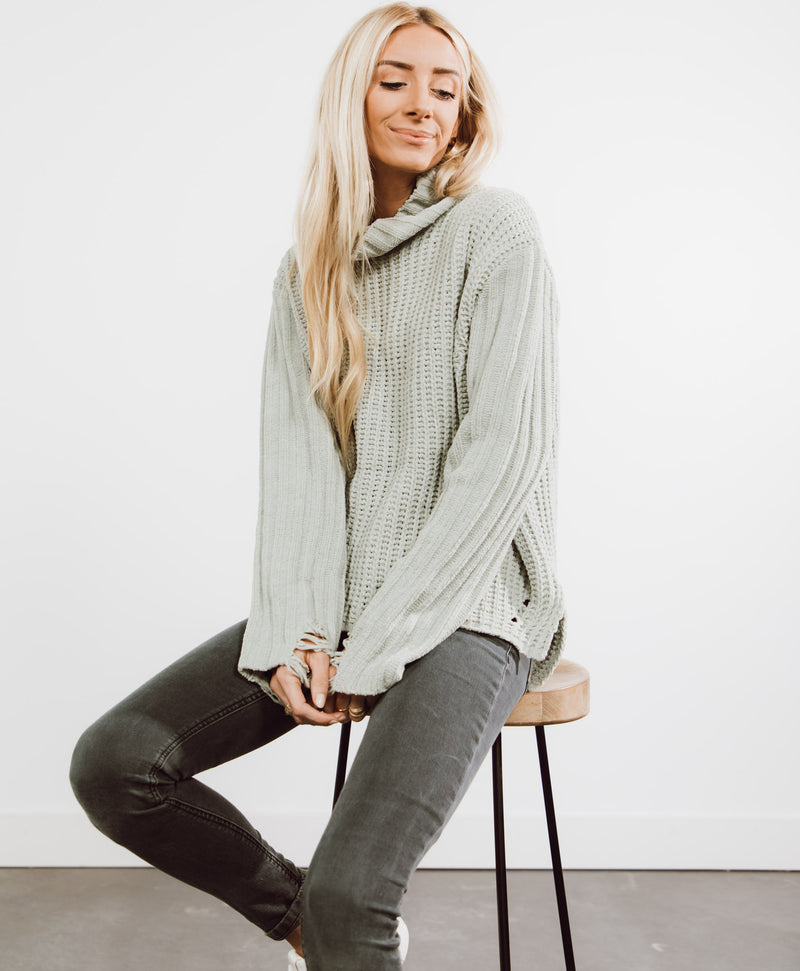 Meaghan Distressed Sweater