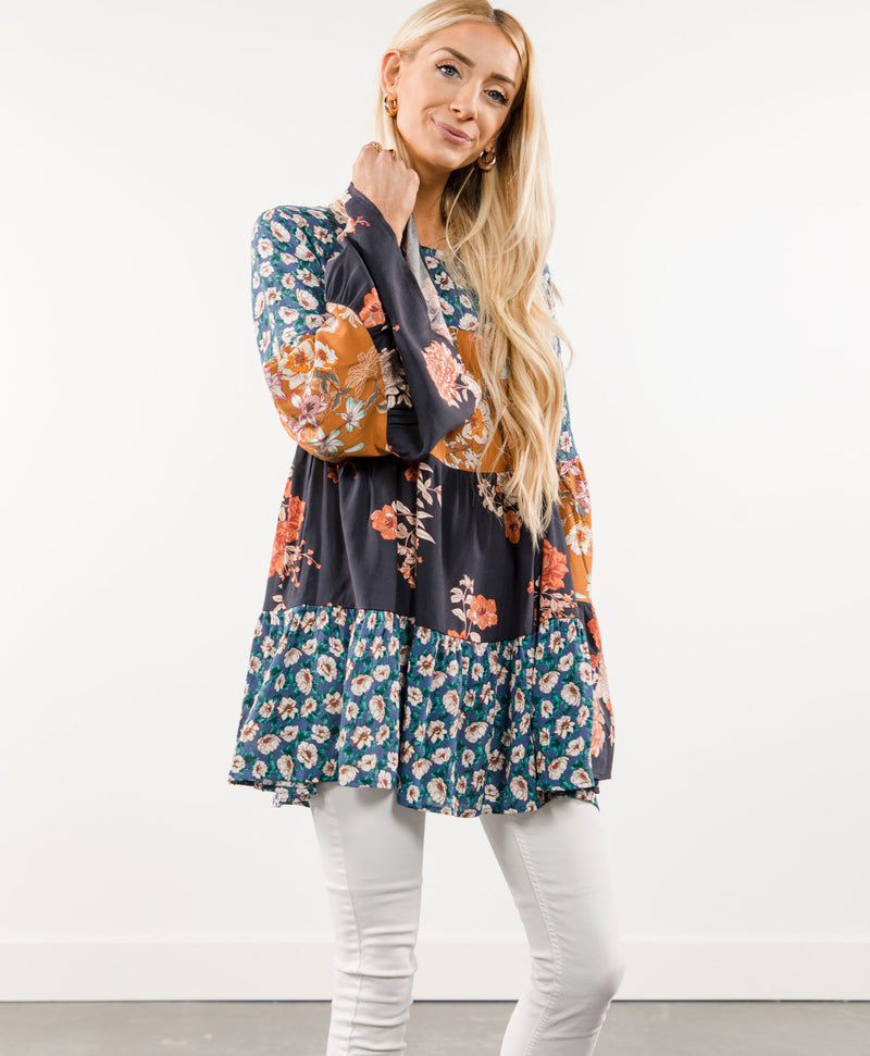 Brandy Floral Tunic