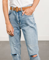 Luisa Slim Fit Boyfriend Denim