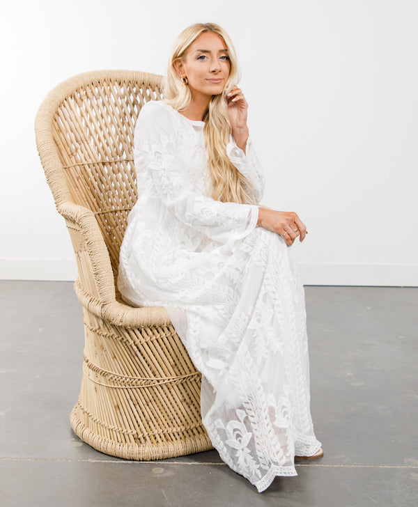 All in White Lace Dress