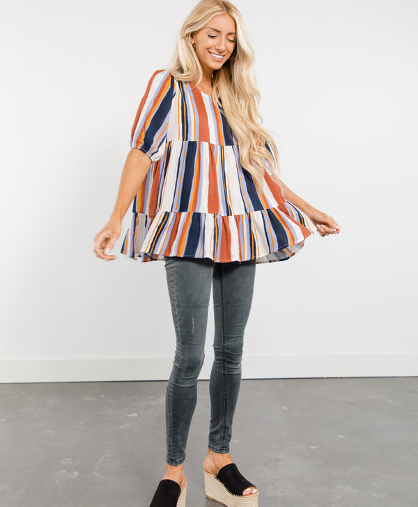 Marla Stripe Top