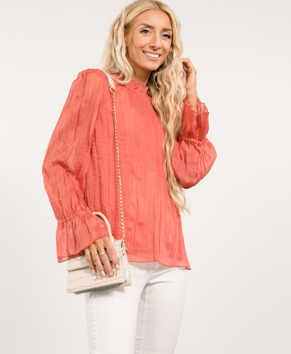 Stacey Ruffle Top
