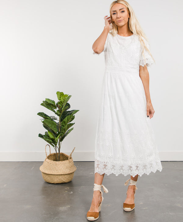 Syd Lace Embroidered Dress