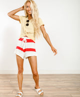 Lottie Stripe Knit Shorts