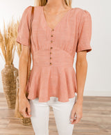 Lyric Peplum Top