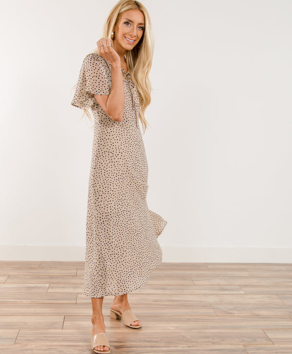 Prestley Dotted Midi Dress