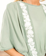 Antoinette Embroidered Top