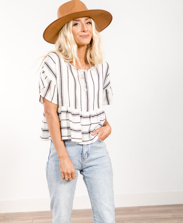 Brinley Stripe Top