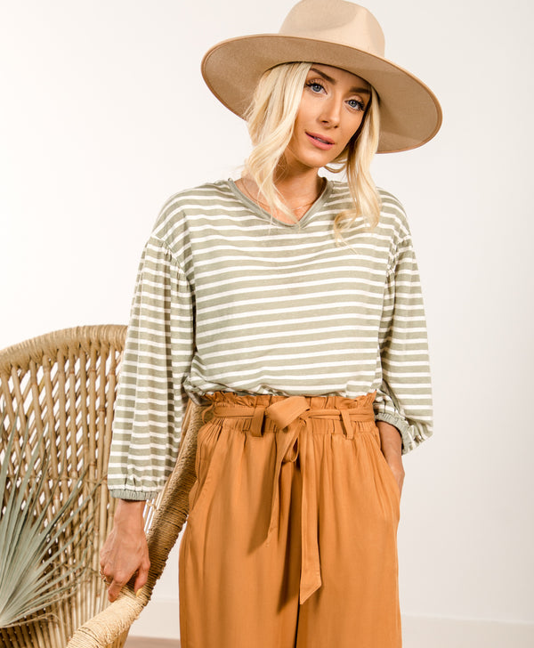 Kaylona Stripe Top